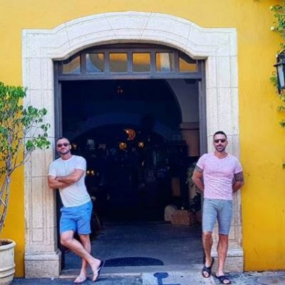 2 guys at door izamal