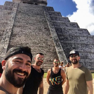 FRENCH BOYS AT CHICHEN ITZA