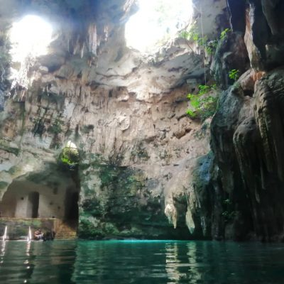 inside cenote tsukan 1